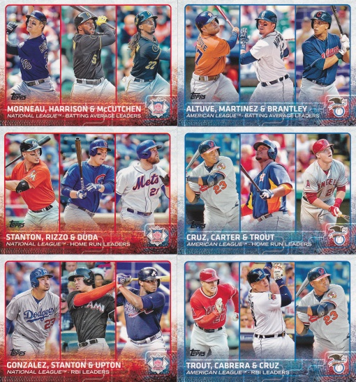 2015 Topps s1 League Leaders Hitters