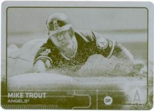 2015 Topps yellow plate Trout