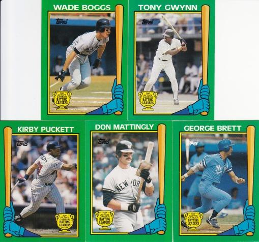 1990 Topps Batting Leaders