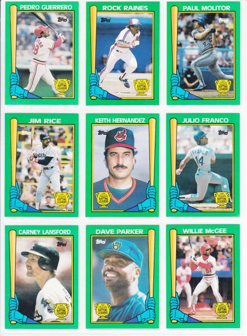 Completed Insert Set 1990 Topps Batting Leaders