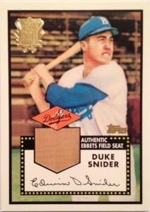 2002 Topps Ebbets Field seat Duke Snider