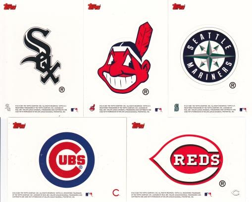 2002 Topps s1 box team stickers