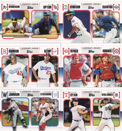 2010 Topps Legendary Lineage photo examples