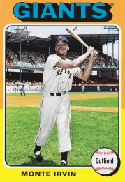 2011 Lineage 75 mini Monte Irvin 2nd best card