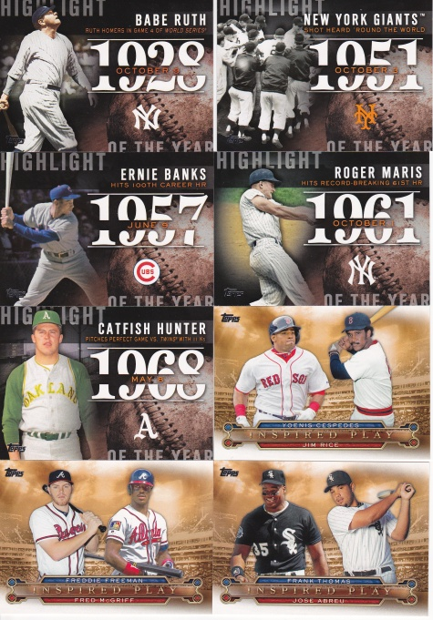 Trade - Highly Subjective 2015 Topps inserts 3