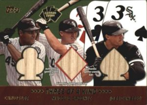 2002 Topps 5-card Stud 3 kind Canseco Magglio Thomas