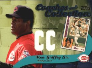 2002 Topps Coaches Collection Griffey Sr