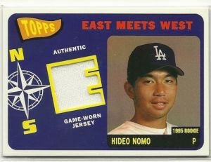 2002 Topps East Meets West Relic Nomo