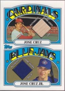 2002 Topps Father Son Jose Cruz Sr Jr