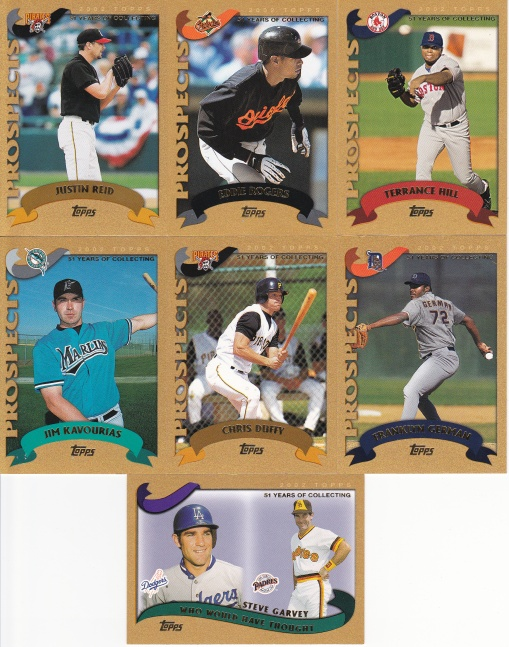 2002 Topps Traded box - Gold cards