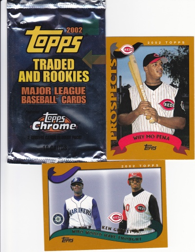 2002 Topps Traded pack Griffey Willy Mo