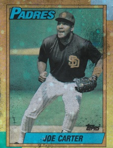 1990 Topps Mylar Test Joe Carter