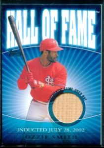 2002 Topps Traded Hall Relic Ozzie Smith