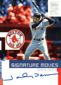 2002 Topps Traded Signature Moves Johnny Damon