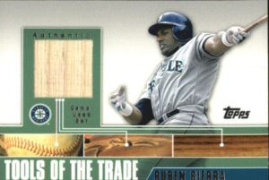 2002 Topps Traded Tools of the Trade Ruben Sierra