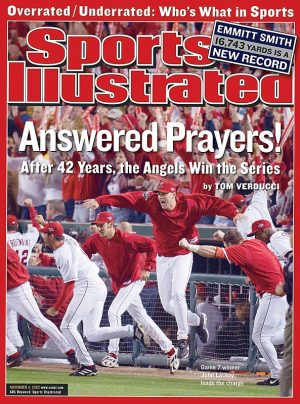 2002 World Series Sports Illustrated Angels cover