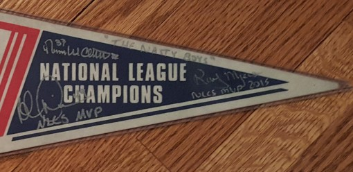 1990 World Series pennant - Nasty Boys signatures