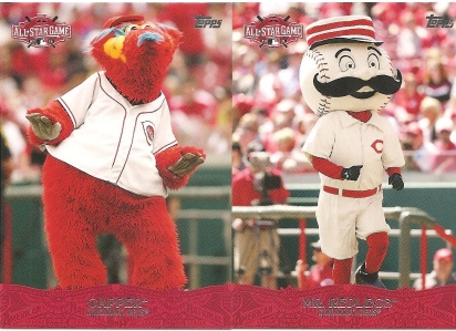 2015 Topps ASG Fanfest set - Mr. Redlegs and Gapper