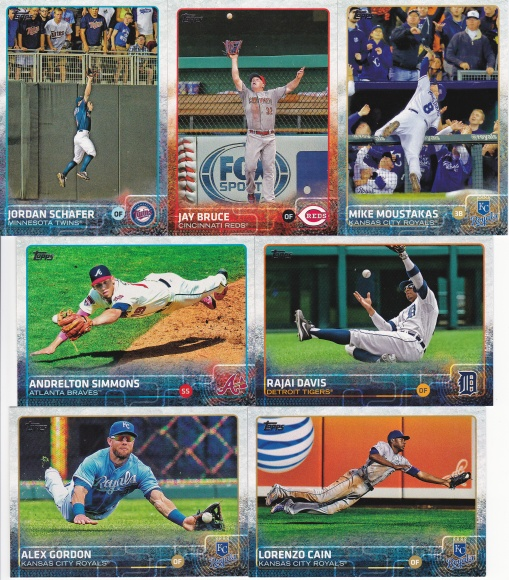 2015 Topps s2 base great photos fielding