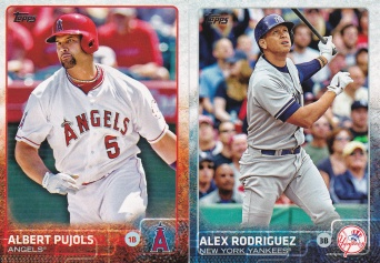 2015 Topps s2 base Pujols A-Rod
