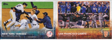 2015 Topps s2 base team Yankees Giants