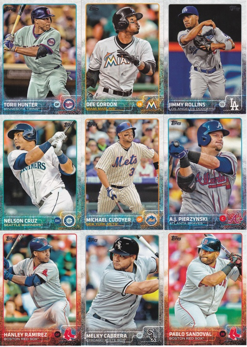 2015 Topps s2 base traded players
