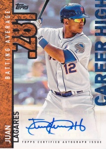 2015 Topps s2 Career High auto Juan Lagares