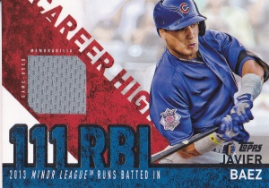 2015 Topps s2 Career High relic Baez