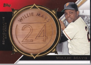 2015 Topps s2 Commemorative Bat Knob Mays