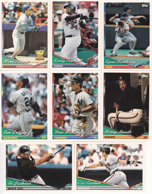 1994 Topps first card and hundreds