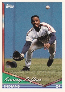 1994 Topps Kenny Lofton best action shot