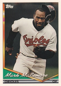1994 Topps Mark McLemore final card of set