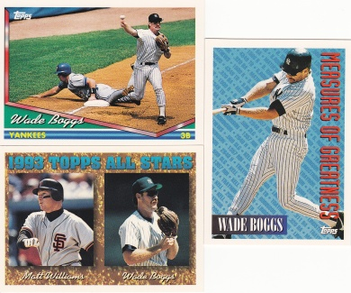 1994 Topps most cards Boggs