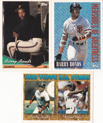 1994 Topps most cards Bonds