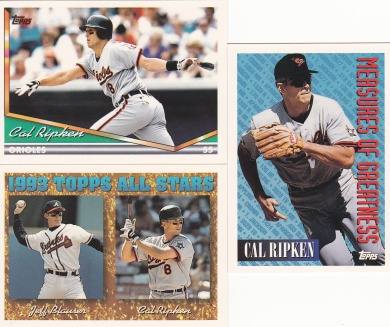 1994 Topps most cards Ripken