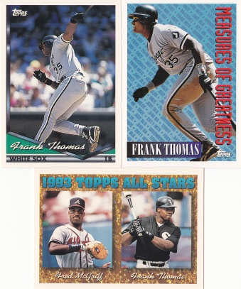 1994 Topps most cards Thomas