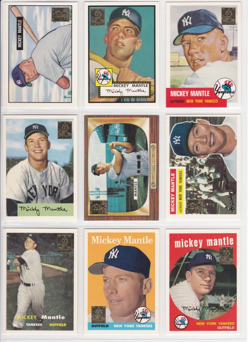 1996-97 Topps Mantle reprints