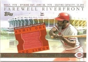 2003 Topps BRM Farewell to Riverfront Morgan