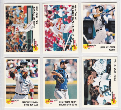 2013 Topps Heritage Memorable Moments