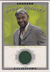 2015 Goodwin Box 1 Sports Royalty memorabilia Jerry Rice
