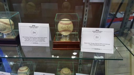 Golding auctions - Babe Ruth ball