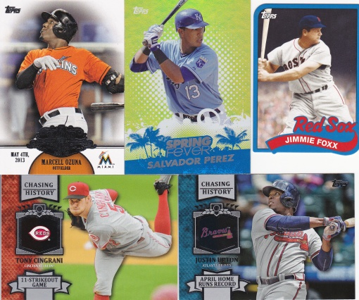 NSCC 2015 dime purchases 2013 Topps inserts