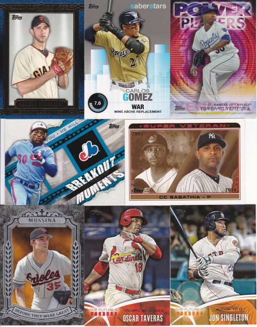 NSCC 2015 dime purchases 2014 Topps inserts