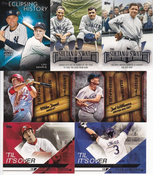 Trade Addiction as Therapy - 2015 Topps inserts 2