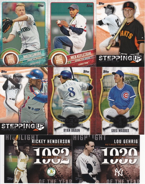 Trade Addiction as Therapy - 2015 Topps inserts