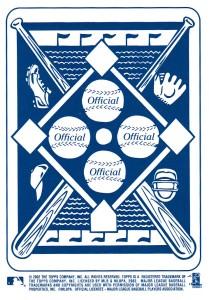2003 Topps Blue back - back of card
