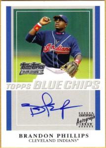 2003 Topps Blue Chips Auto Brandon Phillips