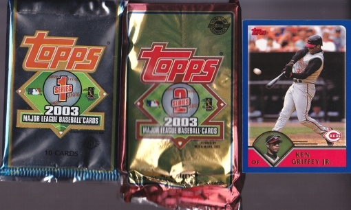 2003 Topps Griffey with packs