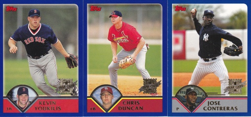 2003 Topps RCs Youkilis Duncan Contreras