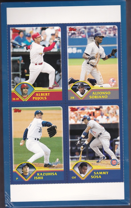 2003 Topps s1 HTA box card bottom